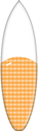 Orange Plaid Split