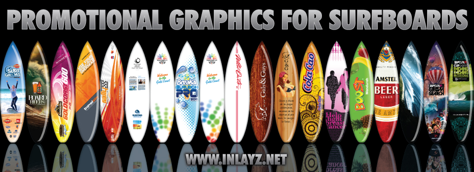 Promotional Graphics for Surfboards